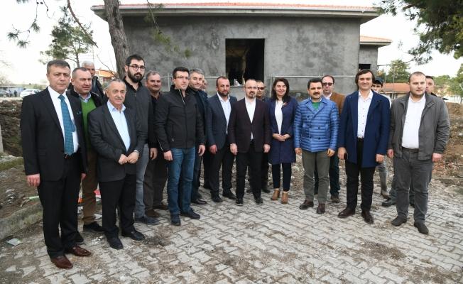Turan, Sağlık evi inşaatını inceledi
