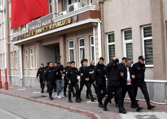 Çanakkale'de suç örgütü çökertildi; 13 gözaltı