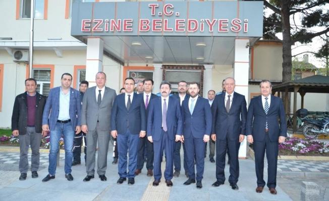 ÇTSO' dan Ezine ve Geyikli Belediyesine ziyareti