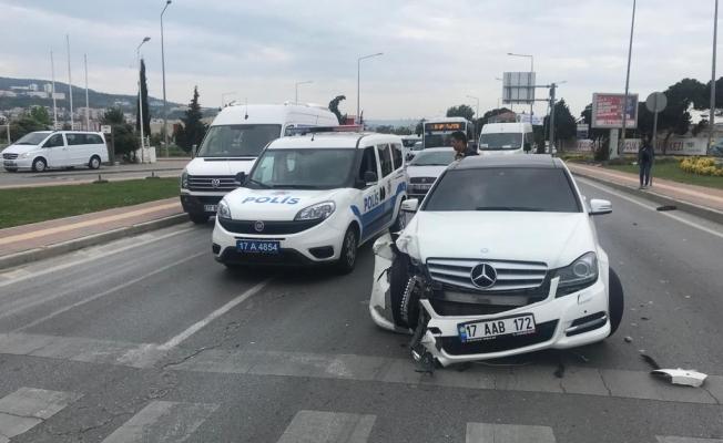 Trafik kazası 1 yaralı (Video)