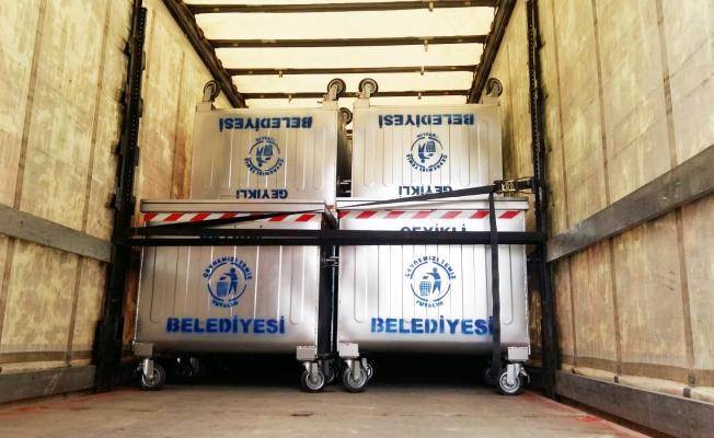 Geyikli'ye 100 adet yeni çöp konteyneri
