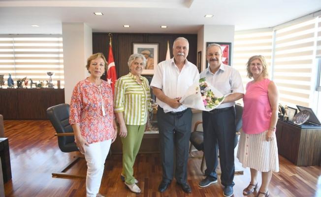 Başkan Gökhan'a nezaket ziyareti
