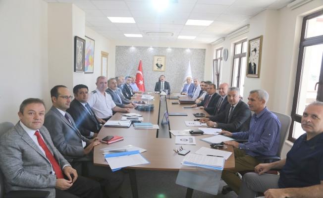 ÇOMÜ güvenlik ve koordinasyon toplantısı