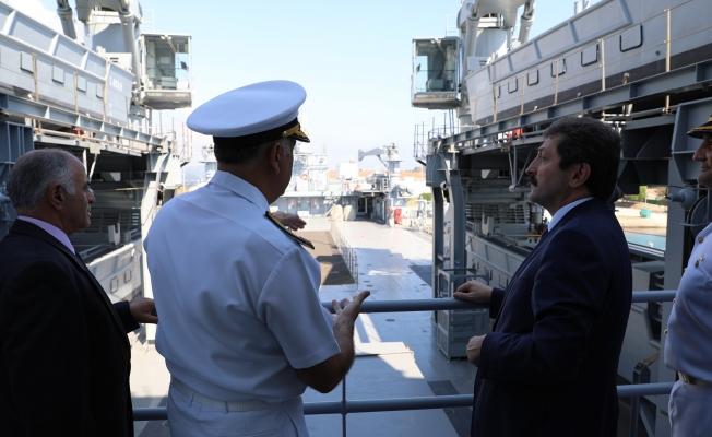 TCG Sancaktar Gemisi Çanakkale'de