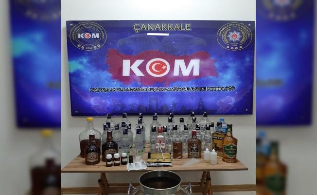 Biga'da sahte içki operasyonu