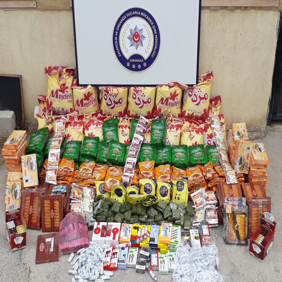Çanakkale'de kaçak gıda ve sigara operasyonu