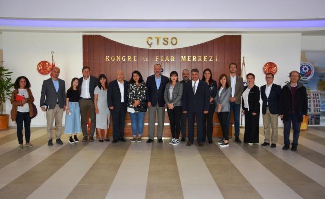 Çinli tur operatörlerinden ÇTSO'ya ziyaret