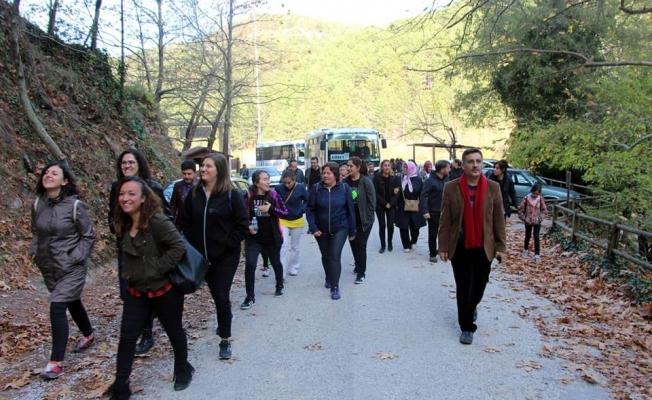 Eğitimciler doğa yürüyüşünde buluştu