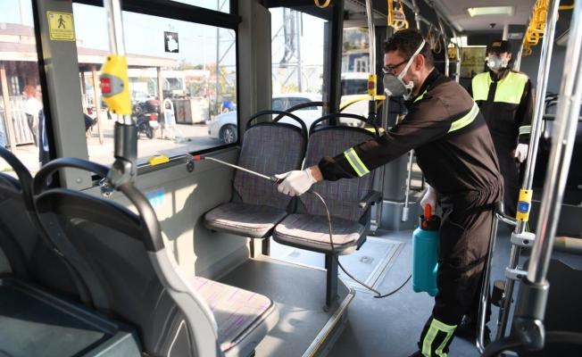 Halk otobüslerinde ilaçlama