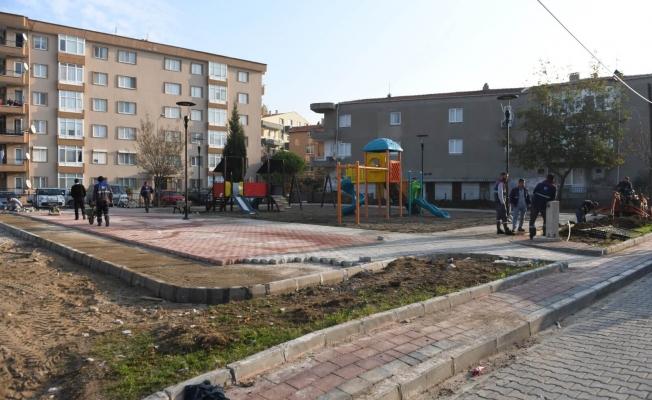 Orköy Parkı'nda yenileme çalışmaları başladı