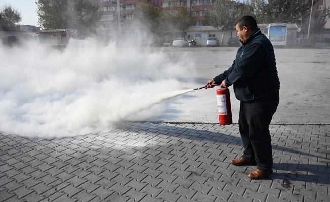 Şehir İçi Toplu Ulaşım Şoförlerine Yangın Eğitimi Verildi