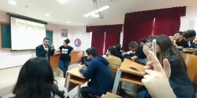 Usta Muhabir Coşkun Aral ile öğrencinin hayali gerçek oldu