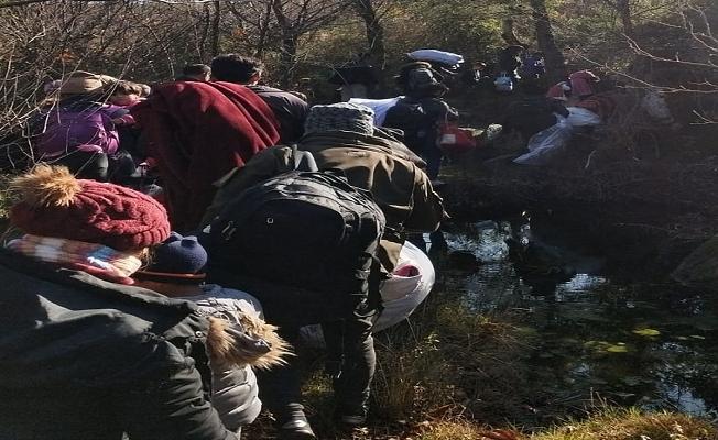 Ayvacık'ta 32 kaçak göçmen yakalandı