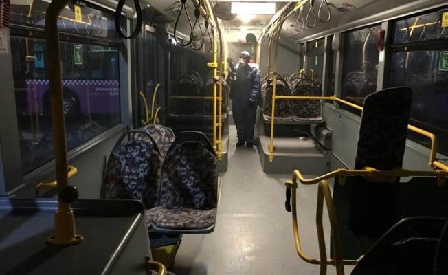 Toplu taşımada dezenfeksiyon çalışması