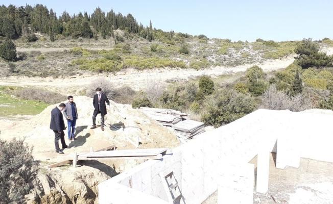 Seyir terası projesinde çalışmalar devam ediyor