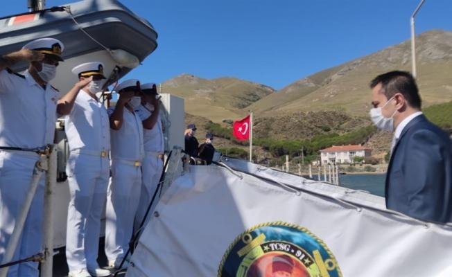 Vali Aktaş TCSG-91 gemisinde