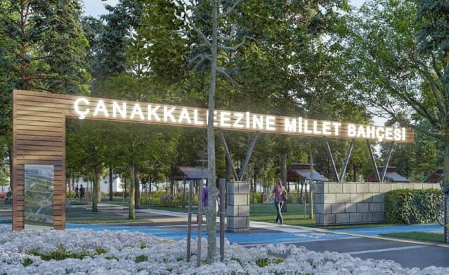 Bölgenin ilk Millet Bahçesi Ezine'ye yapılacak !