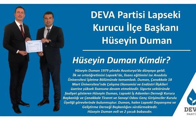 DEVA Partisi Lapseki Kurucu İlçe Başkanı belli oldu