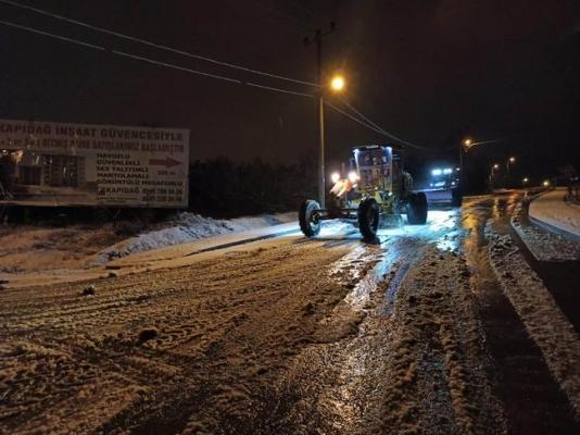 Biga Belediyesinin kar mesaisi