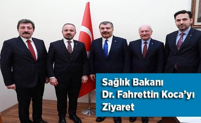 Sağlık Bakanı Dr. Fahrettin Koca'yı Ziyaret