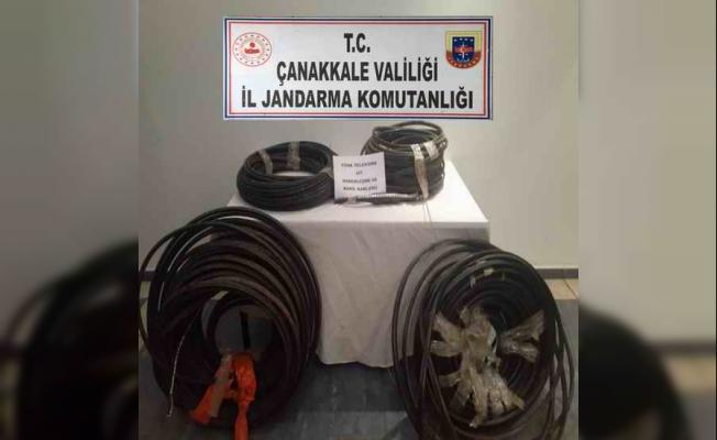 Haberleşme ve enerji nakil kablosu hırsızlarına suçüstü