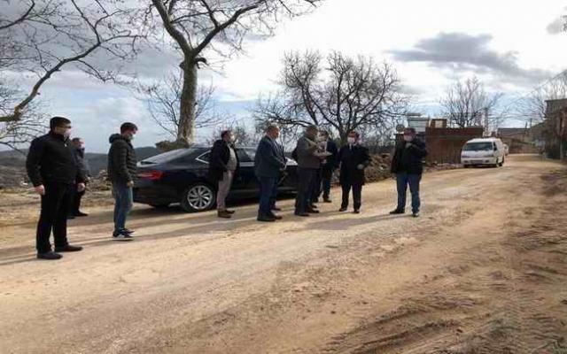 Vali Aktaş, Ayvacık Ahmetçe Köyü'nde incelemelerde bulundu