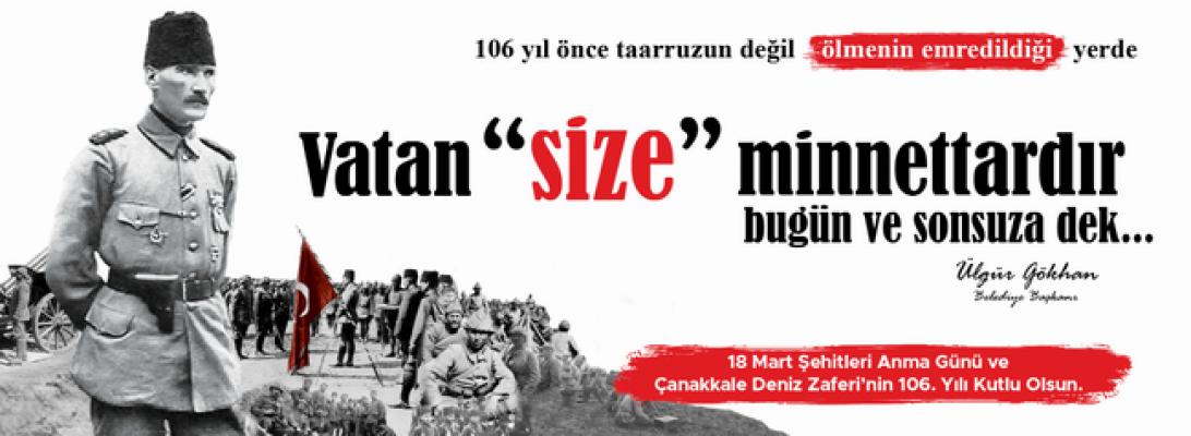 Belediye Başkanı Ülgür Gökhan'ın 18 Mart mesajı