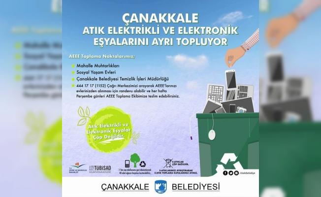 Çanakkale, belediyeler arası e-atık toplama yarışmasında 2inci