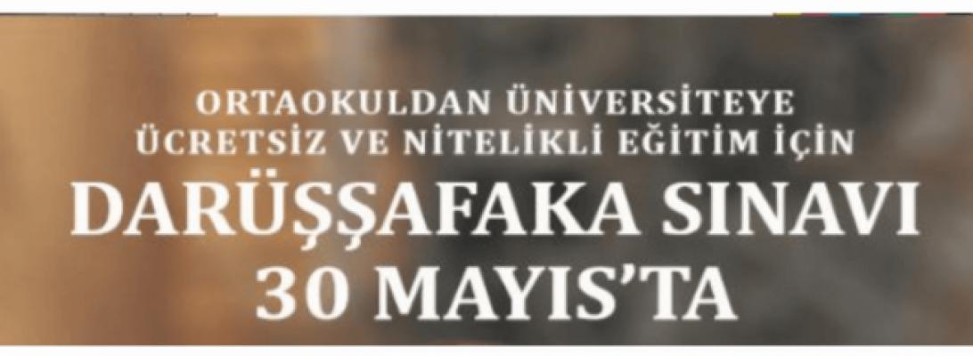 Darüşşafaka sınavı 30 Mayıs'ta yapılacak