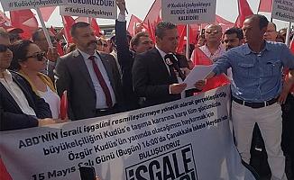İskele Meydanı'nda İsrail protestosu