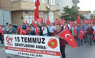 Ayvacık'ta 15 Temmuz Demokrasi Yürüyüşü
