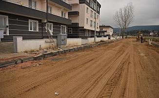 Barbaros Mahallesi'nde üstyapı çalışmaları başladı