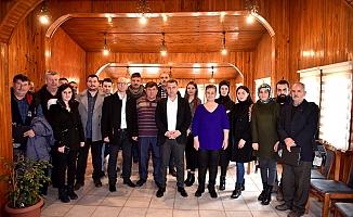 Başkan Kuzu, gazetecileri ağırladı