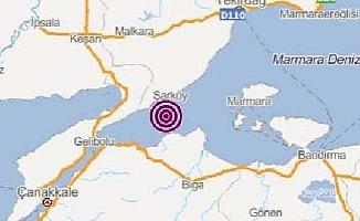 Marmara Denizi'nde 3,9 büyüklüğünde deprem