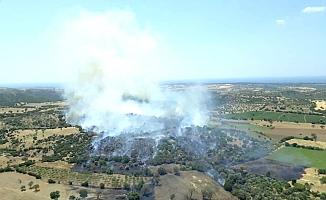 Ezine'de iki yangın söndürüldü