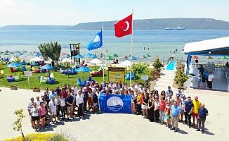 Kepez Halk Plajı'na mavi bayrak