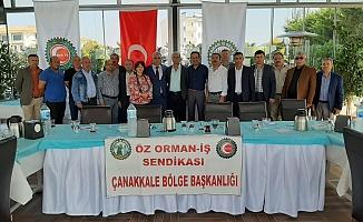 Öz Orman-İş Çanakkale'de nöbet değişimi