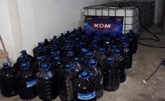 4083 litre kaçak Şarap ele geçirildi