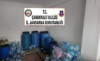 Erenköy'de 1275 litre kaçak içki ele geçirildi