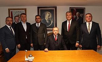 Başkanlar taleplerini Erdoğan'a iletti