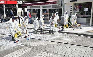 Biga sokaklarıdezenfekte edildi