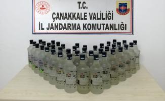 74 şişe kaçak içki ele geçirildi