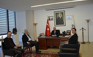 ÇTSO Başkanı Semizoğlu'na Alamos gold'dan ziyaret