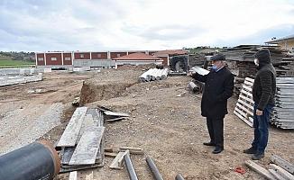 Başkan Gökhan proje faaliyetlerini yerinde inceledi