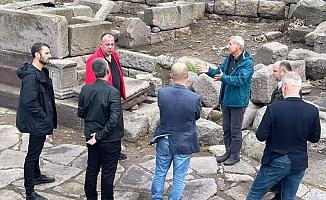 ÇTSO heyeti Assos'ta incelemelerde bulundu