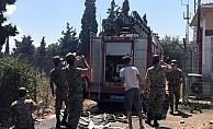 Jandarma eğitim alanında yangın