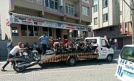 Tescilsiz motosikletler toplanıyor
