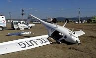 Troy Air Fest'te uçak düştü; 1 yaralı