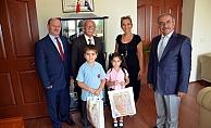 Başkan Özacar'a İlköğretim Haftası ziyareti