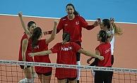 Belediyespor Milli takım ile karşılaştı